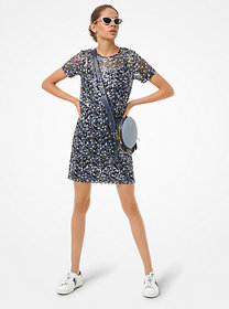 Michael Kors Floral Sequined T-Shirt Dress
