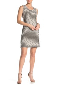 Max Studio Textured Stripe Sleeveless Sheath Dress