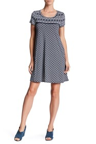 Max Studio Short Sleeve Swing Dress