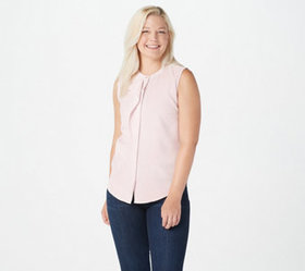 """As Is"" Elizabeth & Clarke Sleeveless Top with Sta"