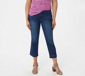 """As Is"" Lisa Rinna Collection Indigo Denim Crop Fl"
