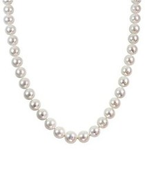 Sonatina 14K White Gold and 13.5MM-15MM Freshwater