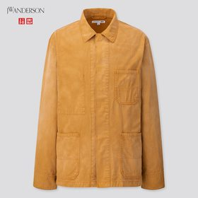 Men Washed Cotton Work Jacket (Jw Anderson), Brown