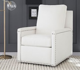 Pottery Barn Tyler Square Arm Swivel Glider & Recl