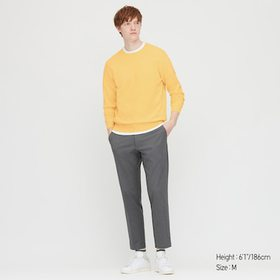 Men Supima© Cotton Crew Neck Long-Sleeve Sweater,