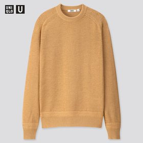 Men U Dry Touch Summer Crew Neck Long-Sleeve Sweat