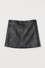H&M+ Faux Leather Skirt