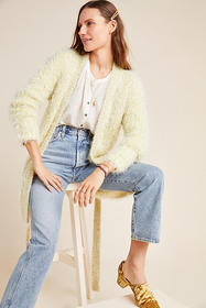 Anthropologie Larkin Shimmer Cardigan