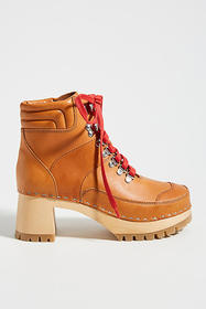 Anthropologie Swedish Hasbeens Trail Clog Boots