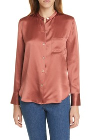 Vince Silk Long Sleeve Blouse
