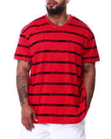 Ecko ecko repeat s/s v-neck (b&t)
