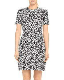 Theory - Leopard Knit T-Shirt Dress