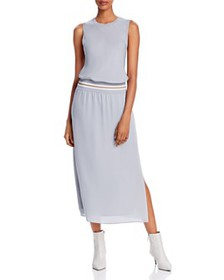 Theory - Sport-Stripe Silk Lewie Midi Dress