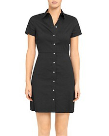 Theory - 'Good Linen' Button-Up Shirtdress