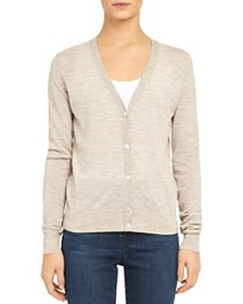 Theory - Regal Wool V-Neck Cardigan