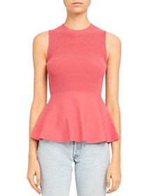 Theory - Ribbed Peplum Top
