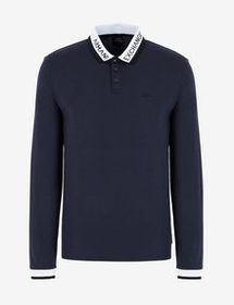 Armani LONG-SLEEVED REGULAR-FIT POLO