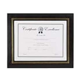 Staples Leatherette Certificate Frames, 2/Pack (53
