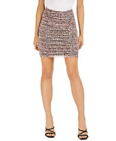 Printed Ruched Mesh Mini Skirt, Created for Macy's