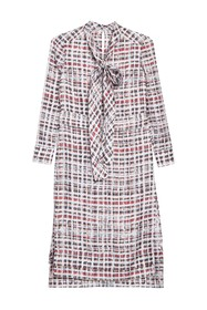 Burberry Valarie Aciha Long Sleeve Silk Dress