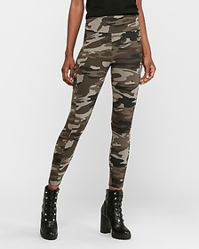 Express high waisted camo cargo utility ankle legg