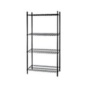 Staples 4 Wire Shelving, Stand Alone, 48W, Black (