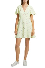 French Connection Frida Arimose Crepe Minidress