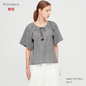 Women Gathered Short-Sleeve Blouse (Jw Anderson),