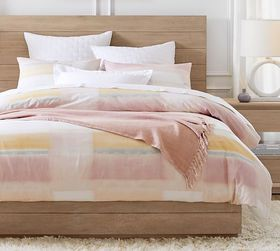 Pottery Barn Medora Organic Cotton Duvet Cover & S