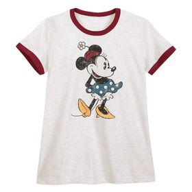 Disney Minnie Mouse Ringer T-Shirt for Women