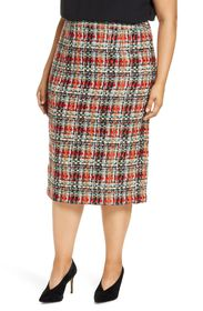 Halogen Tweed Pencil Skirt (Plus Size)