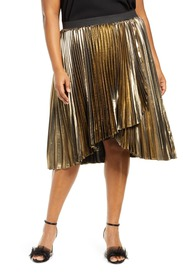 Halogen X Atlantic-Pacific Waterfall Lamé Skirt