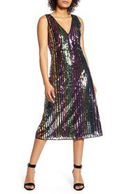 Halogen X Atlantic-Pacific Sequin Stripe Shift Dre