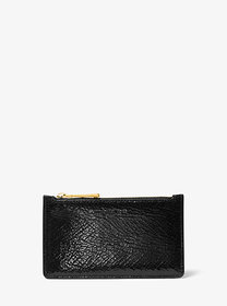 Michael Kors Small Crackled Metallic Leather Card