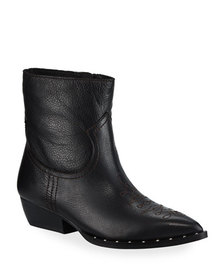 Sam Edelman Ava Leather Western Ankle Booties
