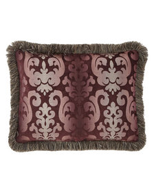 Sweet Dreams Aubergine King Sham with Fringe
