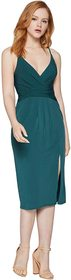 BCBGeneration Cocktail Drape Front Surplice Midi D
