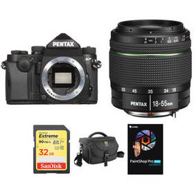 Pentax KP DSLR Camera with 18-55mm Lens and Access