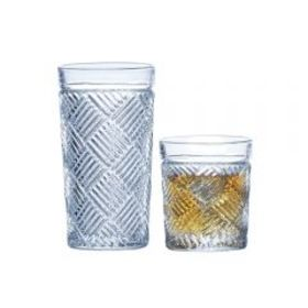 Mikasa Set of 16 Highball and Double Old Fashioned