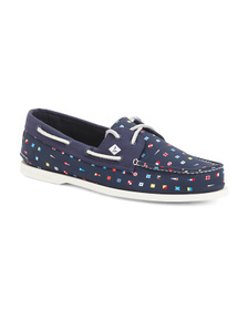 SPERRY Men's Printed Boat Shoes