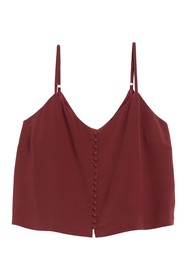 Madewell Silk Button Front Camisole