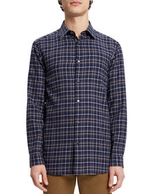 Theory Men's Relaxed-Fit Plaid Sport Shirt