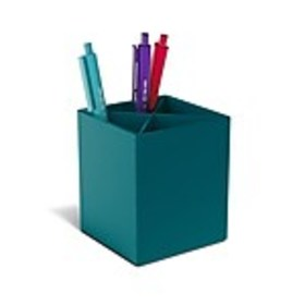 TRU RED™ Divided Plastic Pencil Cup, Teal (TR55278