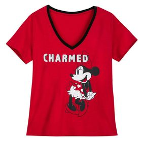 Disney Minnie Mouse ''Charmed'' V-Neck T-Shirt for