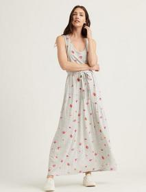 Lucky Brand Eliza Floral Belted Maxi Dress