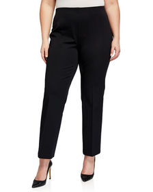 Neiman Marcus Plus Size Jules Pull-On Pants