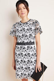 Anthropologie Shoshanna Embroidered Lace Mini Dres