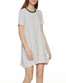 BCBGENERATION - Striped A-Line T-Shirt Dress