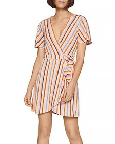 BCBGENERATION - Riviera Striped Wrap Dress