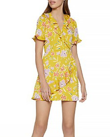 BCBGENERATION - Floral-Print Mini Wrap Dress